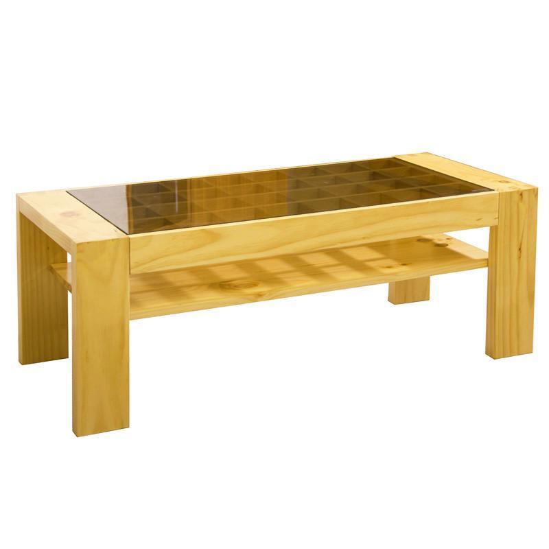 择木宜居 全实木钢化玻璃茶几边几角几桌 zj16 原木色