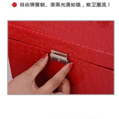 馨宝精品欧式经典首饰收纳盒/珠宝盒/化妆盒-大红色