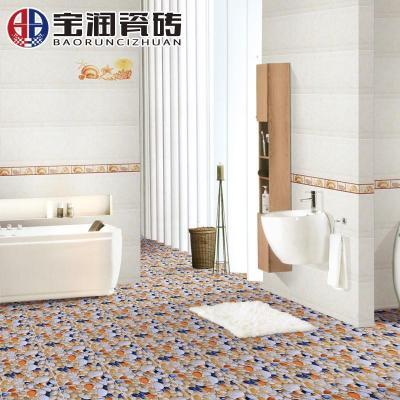 宝润瓷砖 五彩地砖地板砖墙砖卫生间防滑瓷砖浴室瓷片