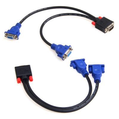 vga 一分二 电脑连接线