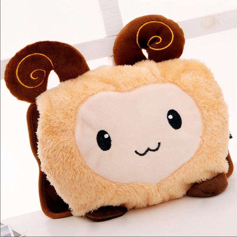 【红兔子暖手暖脚宝】超可爱卡通小羊双插手热水袋