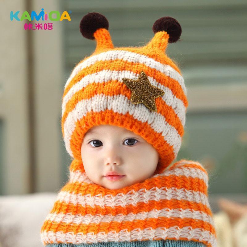 围巾可爱宝宝帽子围巾两件套男女童韩版帽子围巾套装