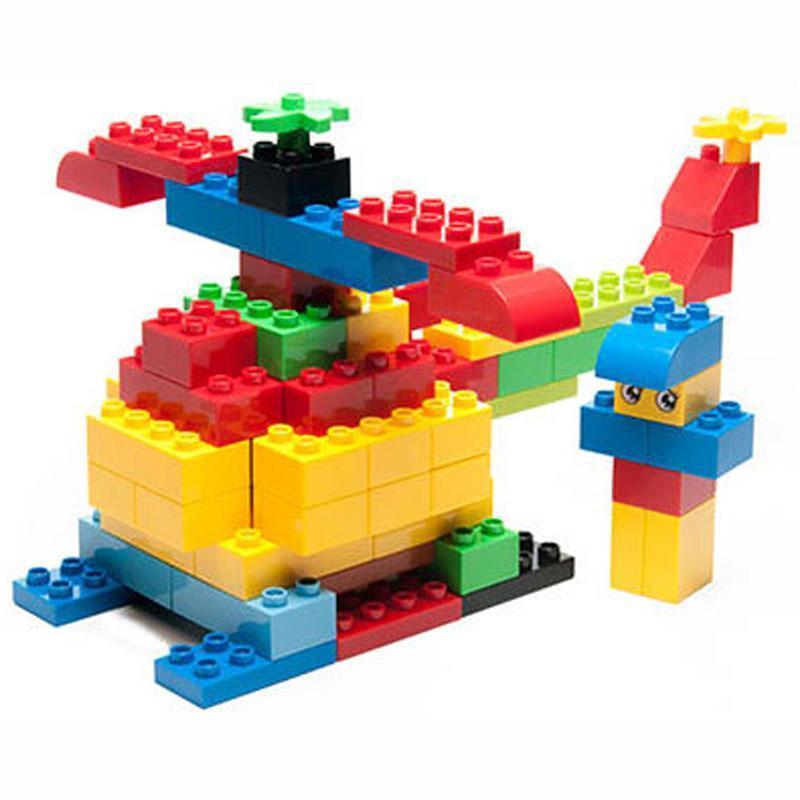 惠美乐高式大颗粒积木大块塑料儿童益智拼插宝宝启蒙拼装玩具== hm158