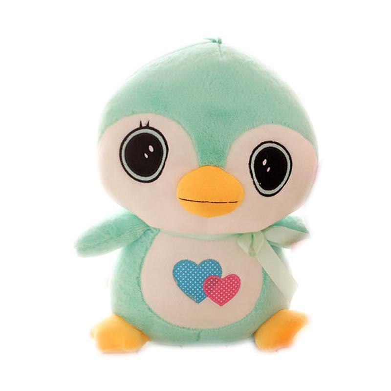 luckyted可爱卡通爱心呆萌小企鹅毛绒玩具公仔布娃娃 儿童玩偶生日