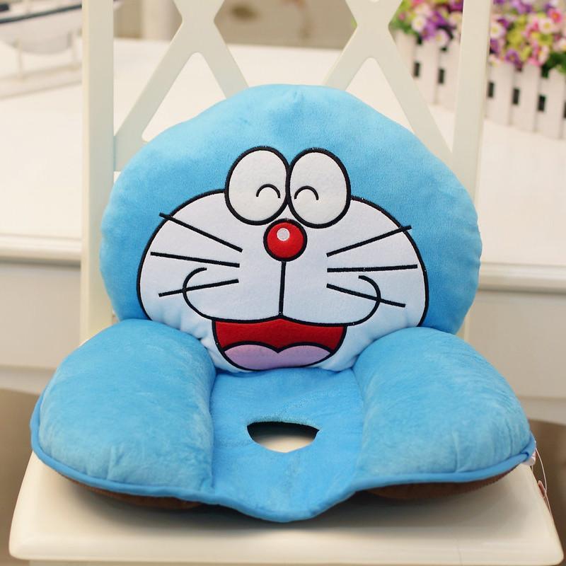 绿盒子 可爱卡通图案机器猫椅垫美臀坐垫腰枕 机器猫腰靠创意生日节日