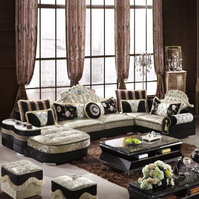 欧式新古典沙发后现代大户型布艺沙发图片