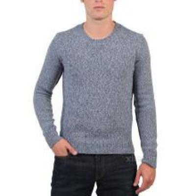 男士羊绒圆领编织长袖毛衣
