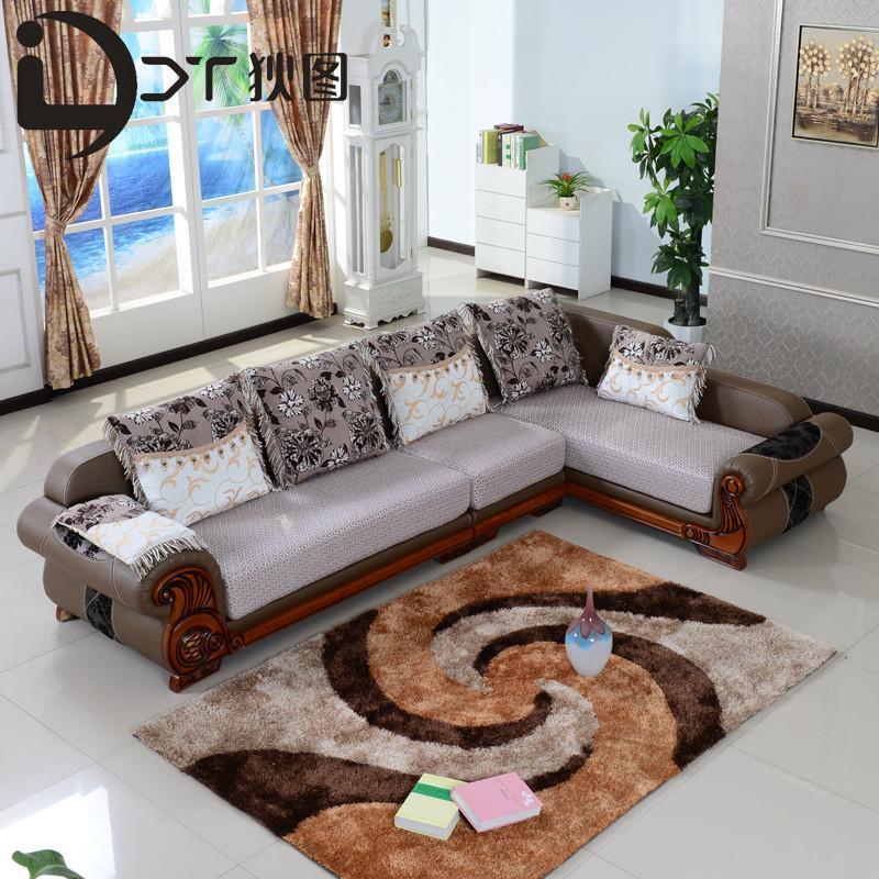 简欧式的真皮沙发