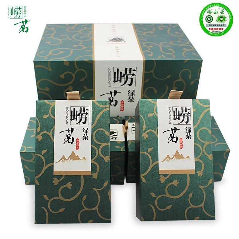 崂山绿茶2016新茶高档礼盒装日照绿茶山东青岛特产级豆香茶叶包邮