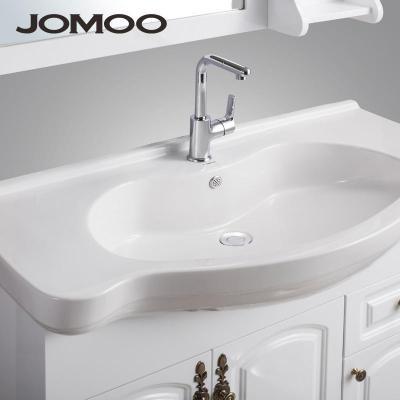 九牧卫生间洗漱台 欧式卫浴柜 橡木浴室柜 落地式洗脸