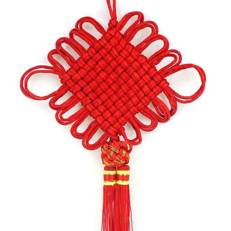 仕彩2015羊年春节新年礼品挂饰 手工编织中国结 双线中国结挂件高清