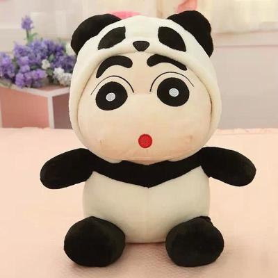 可爱变装熊猫蜡笔小新公仔毛绒玩具布娃娃
