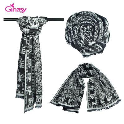 冬季羊绒围巾系法图解