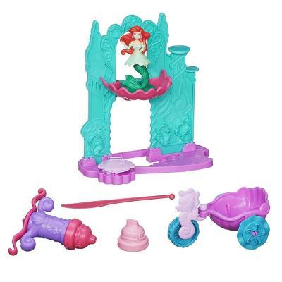 橡皮泥软性彩泥礼盒 手工创意制作diy玩具迪士尼公主爱丽儿城堡a7396