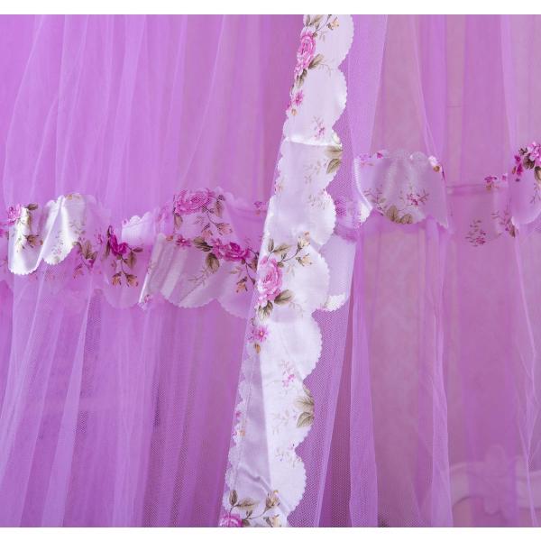 欧式客厅紫色窗帘效果图