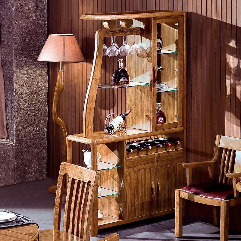 现在中式实木家具 酒柜 实木 虎斑木实木酒柜 间厅柜 实木酒柜