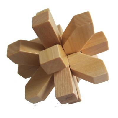 木有人 木质孔明锁鲁班锁 益智玩具 梅花锁商品图片