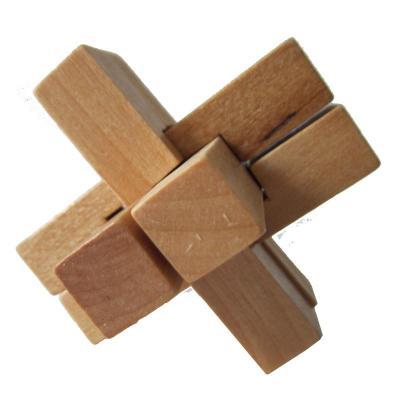 木有人 木质孔明锁鲁班锁 益智玩具 六通锁