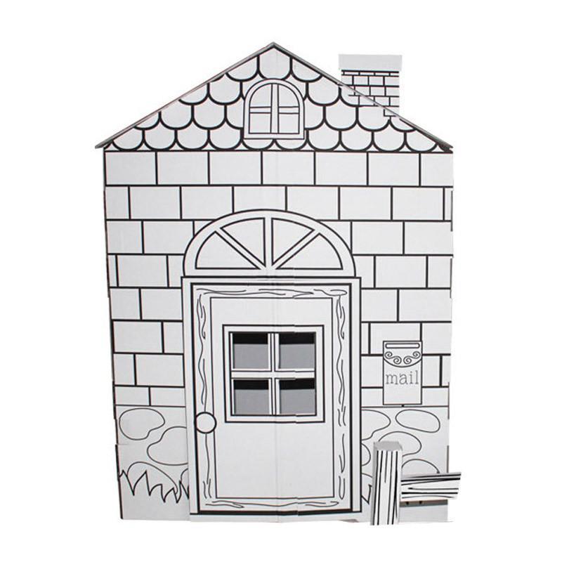 【魔卡童立体拼插】手绘游戏屋---美国大房子【价格