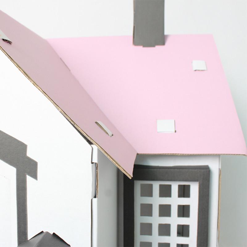 【魔卡童立体拼插】手绘游戏屋--仿真小房子(粉色)