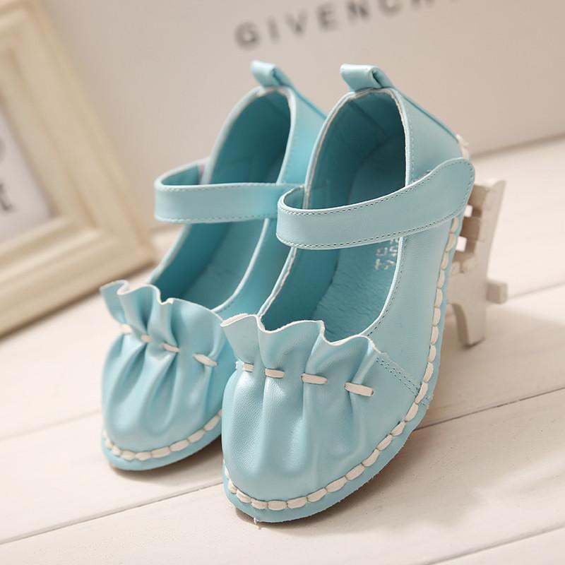 闪卡2015最新款粉嫩公主鞋韩版女童单鞋秋夏款甜美可爱百褶单鞋-k88