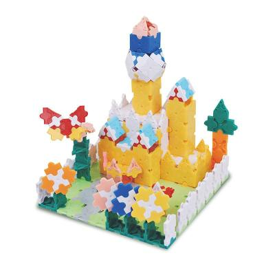 小蜜蜂品牌3d神奇拼装积木玩具750片欢乐城堡精美