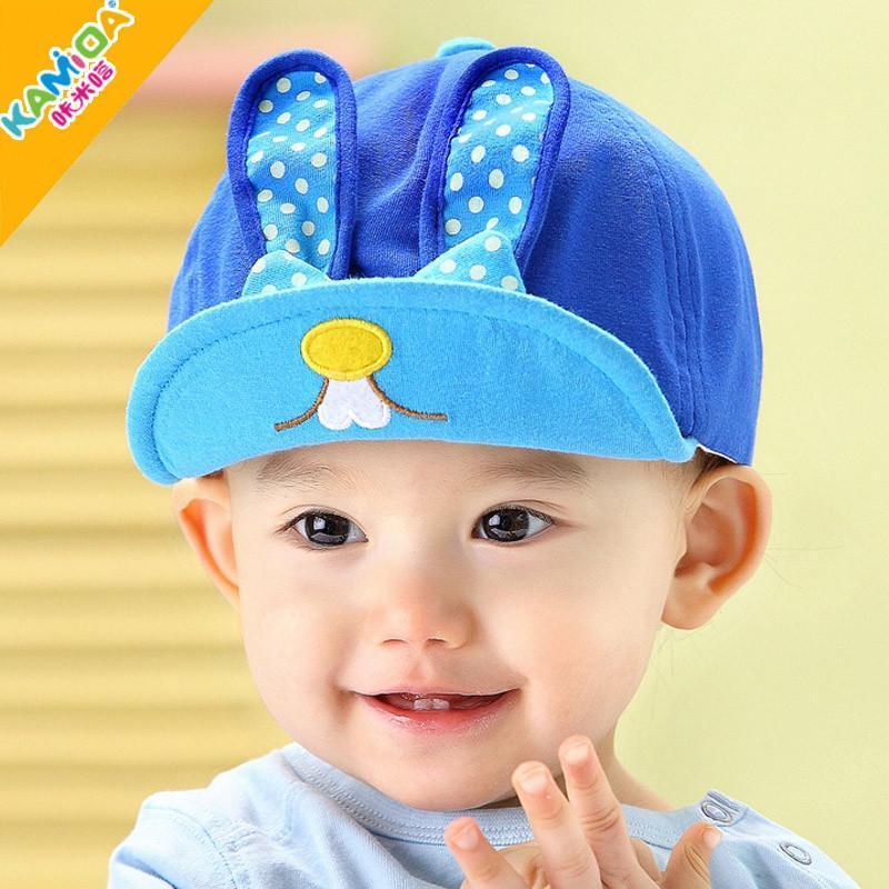 咔米嗒韩版卡通可爱帽子 男女宝宝春季帽子儿童遮阳帽太阳帽包邮