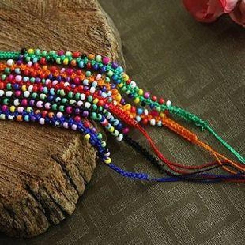 【迈姿(maizi)手镯/手链】波西米亚时尚混搭彩线编织