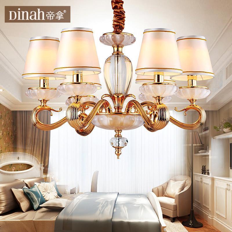 帝拿欧式纯铜水晶吊灯 后现代客厅餐厅灯装饰灯电镀全铜灯具灯饰 780