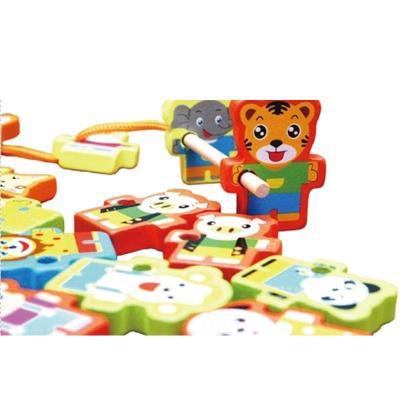 【星邦堆叠积木】136粒动物多米诺骨牌