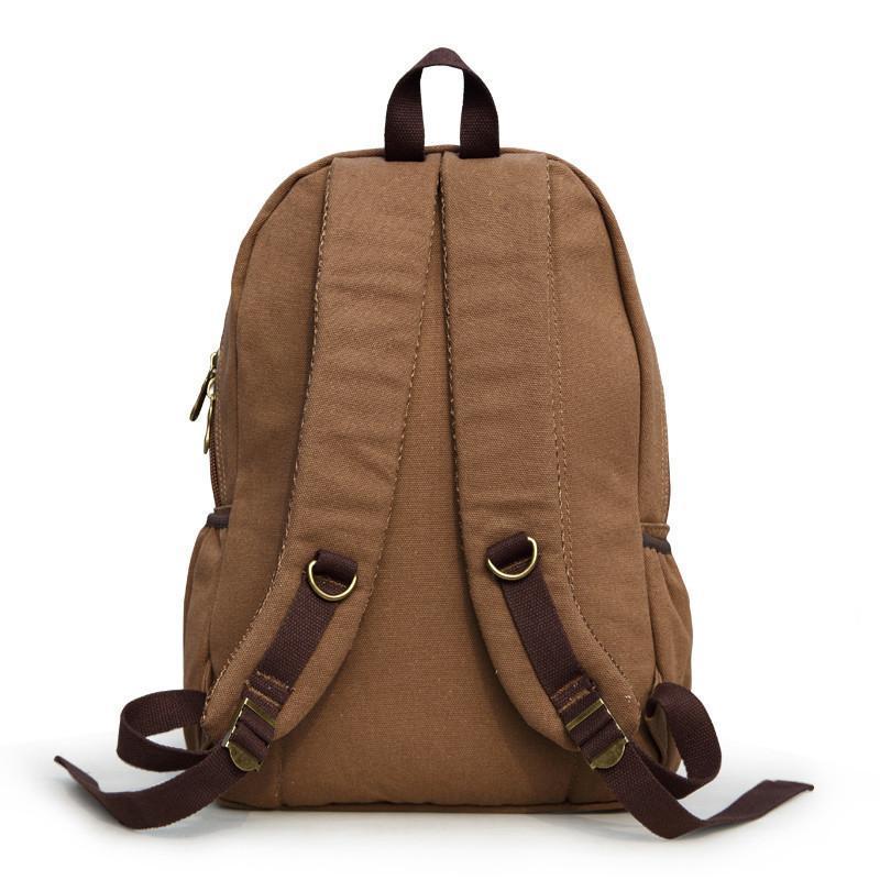 布维斯 新款双肩男士帆布背包户外休闲旅行包大容量背包图片