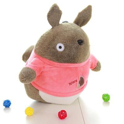 可爱穿衣款龙猫毛绒玩具公仔娃娃送闺蜜送朋友生日礼物 粉色65cm
