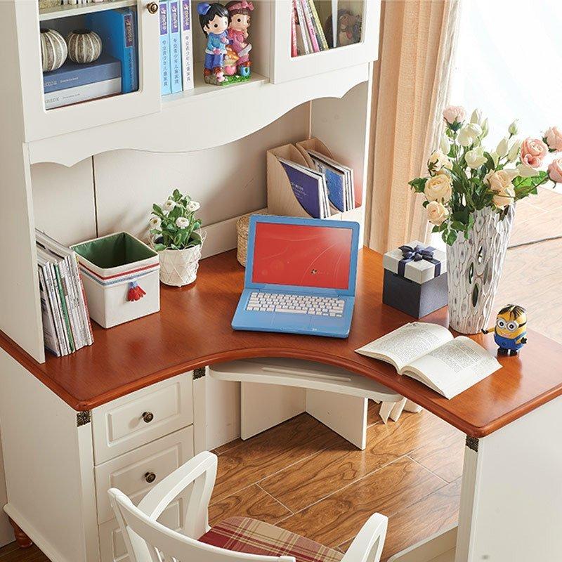优漫佳 电脑桌学生书柜书桌书架组合儿童电脑台办公桌