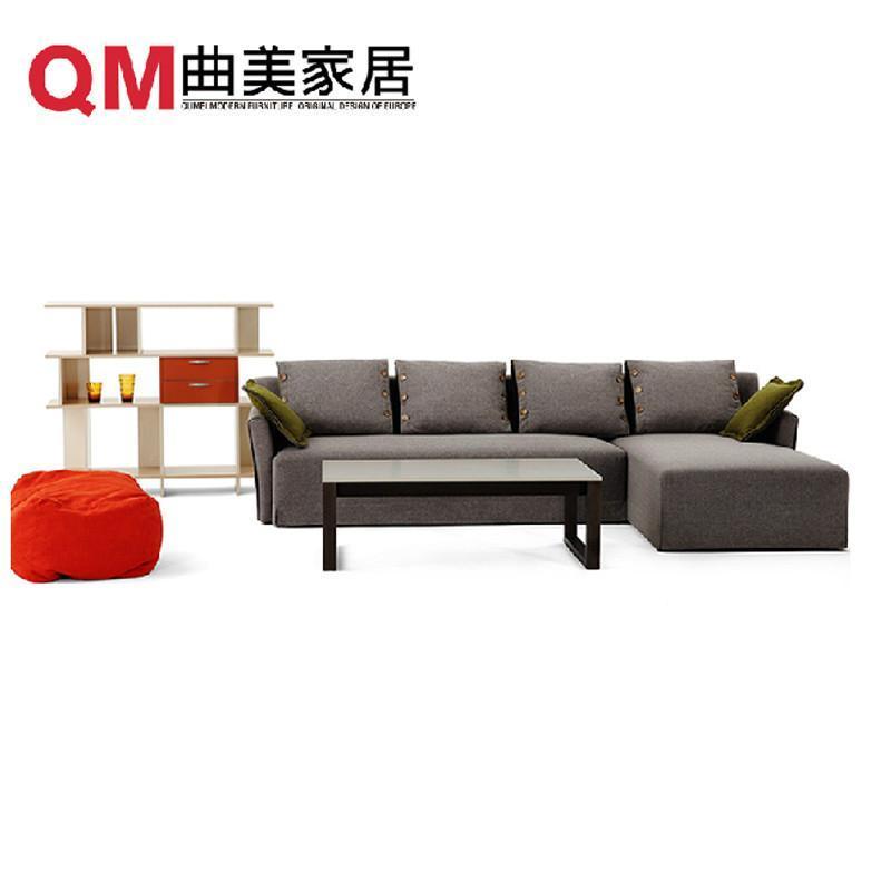 曲美  曲美 家具 沙发  布艺 沙发 简约现代组合 沙发 可拆洗图片