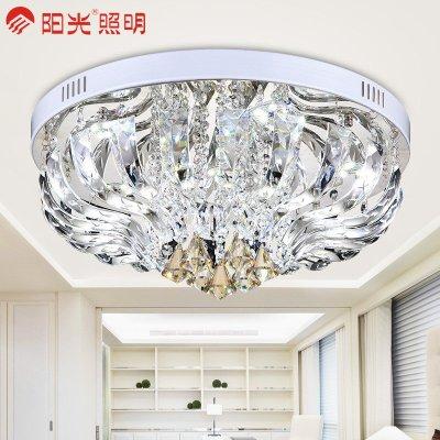 阳光照明 led吸顶灯客厅水晶灯圆形灯具灯饰