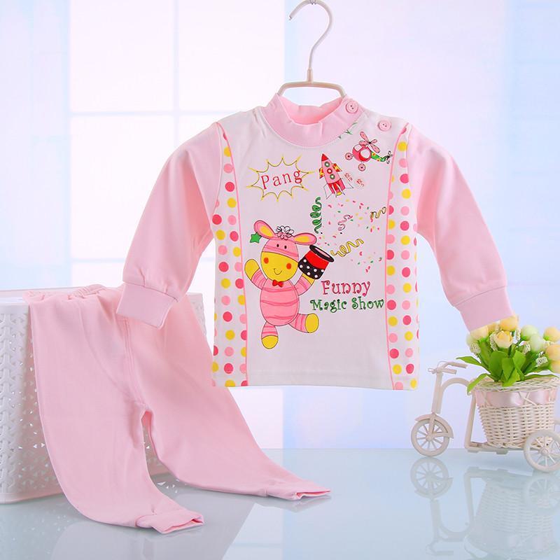 夏季童装婴儿内衣套装新生儿宝宝衣服纯棉内衣套装儿童3613 蓝色 80cm