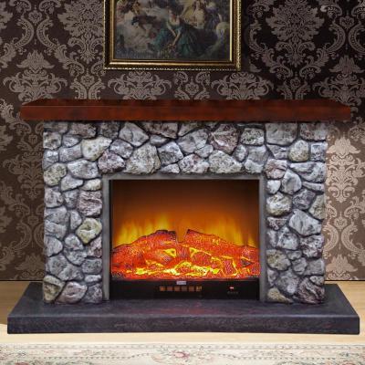 4米欧式复古壁炉装饰柜