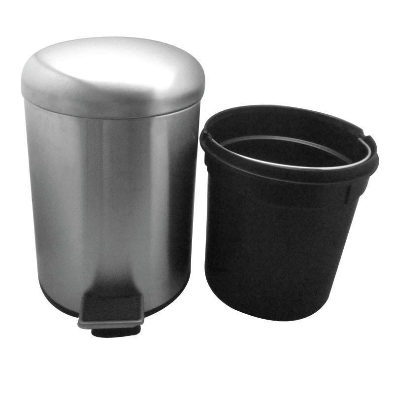 20l不锈钢圆盖脚踏垃圾桶