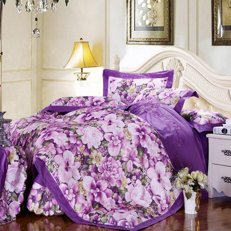 欧式活性提花印花床上用品被套四件套trj