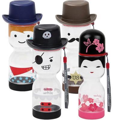新品乐扣乐扣娃娃卡通形状水杯 可爱卡通创意水杯 430ml 买赠杯刷