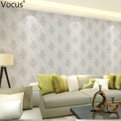 云3d立体浮雕壁纸无纺布壁纸欧式复古客厅墙纸暖色系