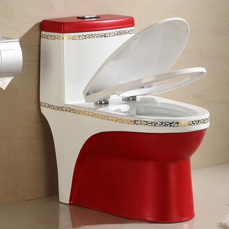 马桶 多彩陶瓷座便器 双档节水坐便器