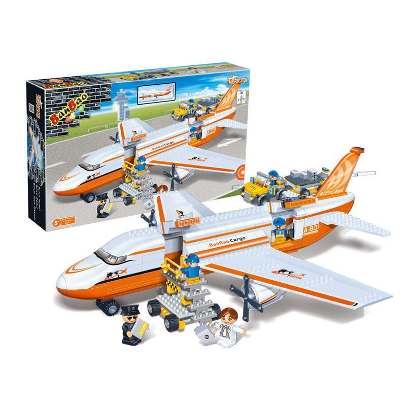 邦宝益智玩具儿童礼物拼插积木货运飞机8281