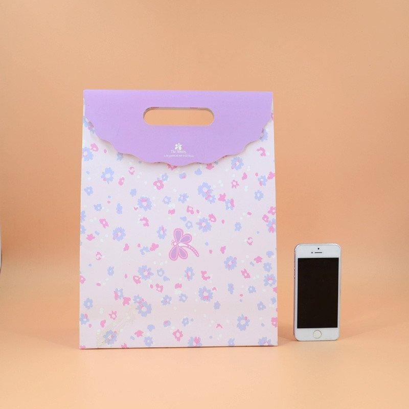 小清新动物文件袋 礼品袋手提纸袋
