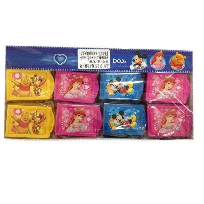 """""""盒装创意魔术橡皮擦可爱卡通迪士尼公主图案儿童奖品学生文具"""""""