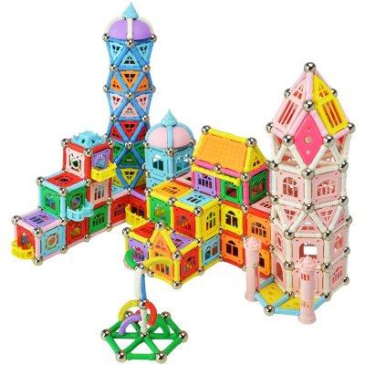 天使磁力棒磁性拼搭建构积木儿童益智玩具 新品 831件桶装(佩纳城堡)