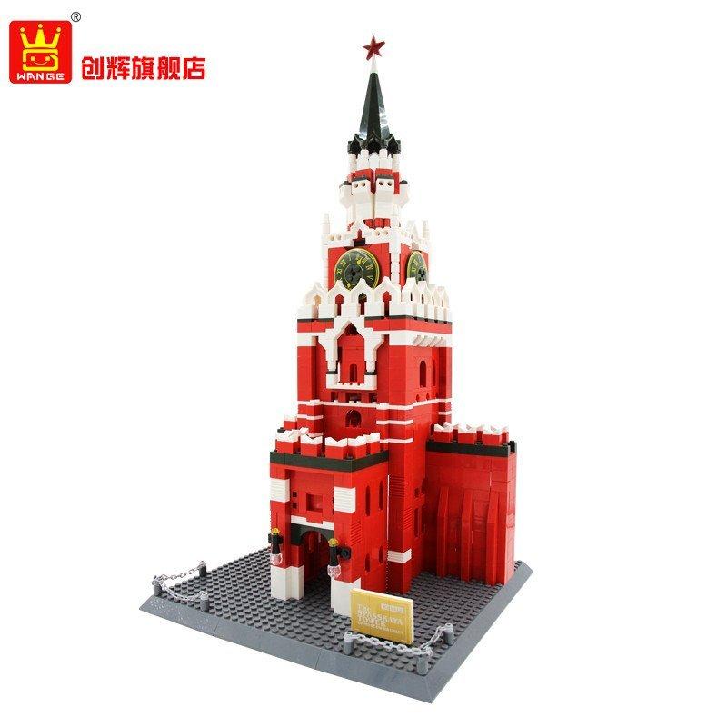 wange万格乐高式大积木玩具 世界著名建筑 德国瓦西里教堂积木玩具