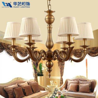 歐式吊燈客廳燈飾美式鄉村吊燈臥室全銅