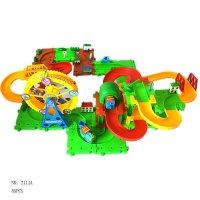 奇粤电动火车图纸拼图益智儿童玩具托马斯小与其他轨道专业冲突施工图图片
