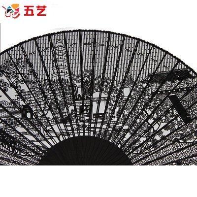 苏扇黑檀扇子乌木扇檀香扇 女式高档和风工艺木扇 中国风礼品折扇